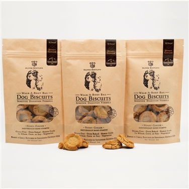 Gluten-Free Healthy Dog Treats made in the USA – 2 oz. Bag of Ollie B. Biscuits