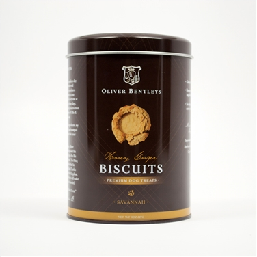 Gluten-Free Healthy Dog Treats made in the USA - Half Pound Tin of Ollie B Biscuits
