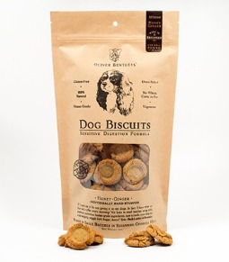 Ollie B. Biscuits: Sensitive Digestion Formula Dog Treats, Honey-Ginger Flavor (Half Pound)
