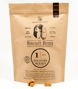 Ollie B. Biscuit Bites: Sensitive Digestion Formula Dog Treats, Honey-Ginger Flavor (One Pound)