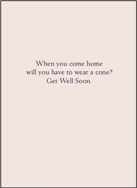 When you come home will you...