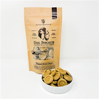 Gluten-Free Healthy Dog Treats made in the USA - Half Pound Bag of Ollie B Biscuits