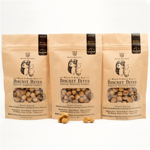 Gluten-Free Healthy Dog Treats made in the USA – 2 oz. Bag of Ollie B. Biscuit Bites